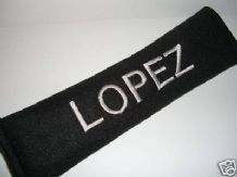 PERSONALISED SEAT BELT PAD